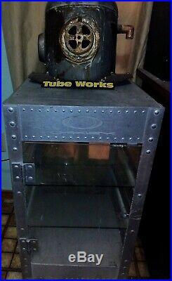Vintage Display Case Oakley Vault Aluminum X Metal & Acrylic. Thick shelff glass