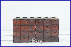 Vintage Dorman Metal Parts Box Cabinet Parts 24 Bin Advertising Store Display