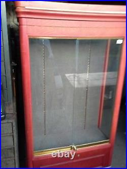 Vintage Double Sided Store Display Case Tall upright