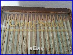 Vintage Eagle Turquoise Drawing Pencil General Store Display Wood Chemi-Sealed