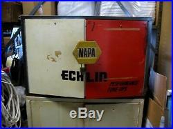 Vintage Echlin/napa Metal Wall Cabinet Good Condition Orange&white