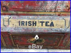 Vintage Extra Large General Store Tin Tea Counter Display (Irish Tea)