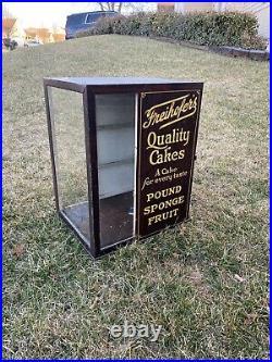 Vintage Freihofers Cake Display Cabinet/countertop Display General Store