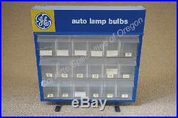 Vintage GE Auto Lamp Bulbs Light Bulb Display Cabinet Rack Very Nice