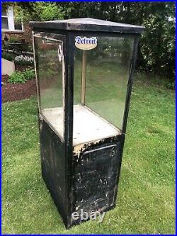 Vintage Gas Station Island Oil Display Cabinet Mcaleers Sign Sunoco Texaco