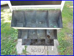 Vintage General Store Hardware Display Cabinet Parts Bin Sheet Metal