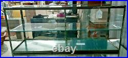 Vintage Glass Table Top Store Display Case with Lock and Key