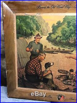 Vintage Griesedieck Bros. Store Display Picture Advertisement 30.5 x 25.5 RARE