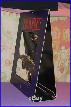Vintage HOUSE video store counter display standee George Wendt Richard Moll