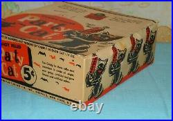 Vintage Halloween PARTY CATS wax candy container ORIGINAL STORE DISPLAY BOX