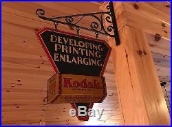 Vintage Hanging Kodak Flange Sign