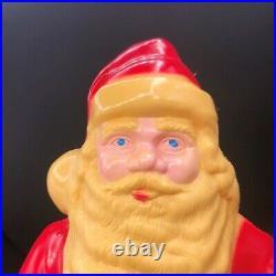 Vintage Hard Plastic Santa Claus Light Up Christmas Decoration 17 Store Display