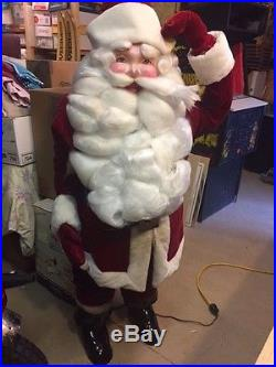 Vintage Harold Gale Mechanical Santa 70 Life size Store Display Nice