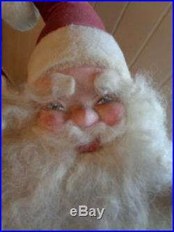 Vintage Harold Gale Santa In Boot Mechanical Christmas Store Display