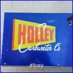 Vintage Holley Carburetor Ignition Parts Store Shop Display Cabinet Circa 50s