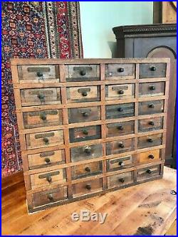 Vintage Industrial Parts 28 Drawers Cabinet Store Display Bin