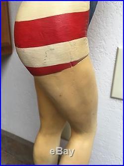 Vintage Jantzen Mini Display Model Mannequin Rare Flag U. S. A Swimsuit