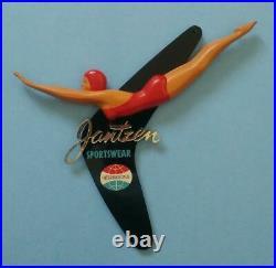 Vintage Jantzen Sportwear Swimwear Dealer Store Display Sign