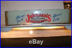 Vintage Johnsons Flavored Toasted Salted Nuts Countertop Store Display Case