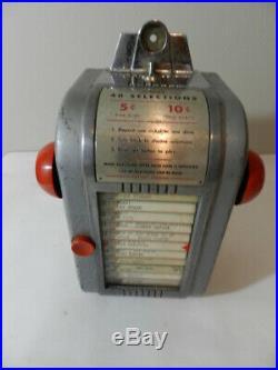 Vintage Jukebox Wallbox- Ami 40 Selection- Vintage Drive-in- Vintage Diner