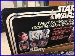 Vintage Kenner Star Wars 12-Back Store Display Header & Bin + 12-A Cardback Set