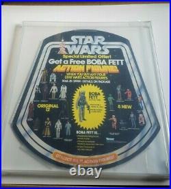 Vintage Kenner Star Wars 1979 Get A Free Boba Fett Bell Store Display AFA 60