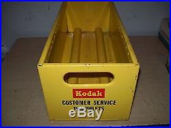 Vintage Kodak Customers Service Pamphlets Metal Store Display Box-Camera-Film