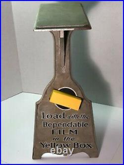 Vintage Kodak Dealer Wooden Display Film Camera Advertising Store Counter RARE