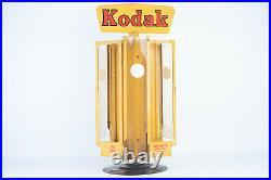 Vintage Kodak Film Display Camera Store Metal Rotating Countertop Dispenser V11