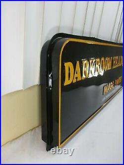Vintage Kodak Image Power Darkroom Headquarters Hanging 2-Sided Sign Display