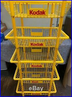 Vintage Kodak Store Display Rack Cart On Wheels
