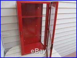 Vintage LANCE Metal / Glass Display Shelf Cookies / Crackers Cabinet