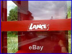 Vintage Lance Display Cabinet Countertop Chip Dispenser Cracker Advertising
