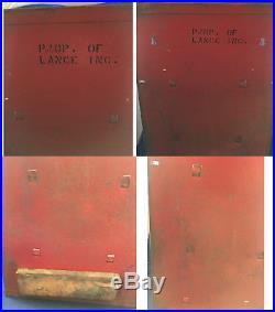 Vintage Lance Store Metal / Glass Cabinet Display