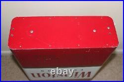 Vintage Large Metal Store Display WINSTON CIGARETTE Filters Pack Sign