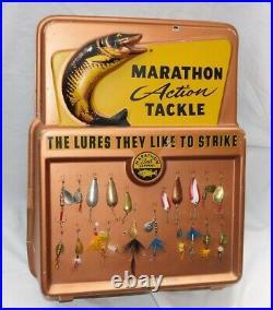 Vintage MARATHON BAIT Co. STORE DISPLAY Lures 3D WASAU WI Action Tackle