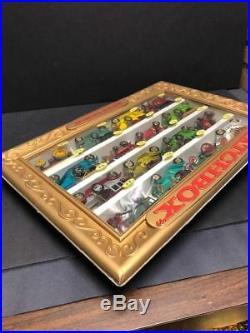 Vintage MATCHBOX LESNEY STORE DISPLAY Toy Model Car lot 60's Metal Rare antique