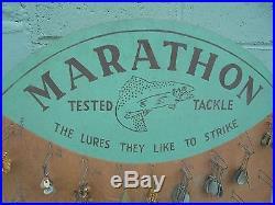 Vintage Marathon Fishing Lure Store Display, Vintage Fishing, Vintage Fishing Lure