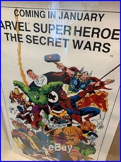 Vintage Marvel Super Heroes The Secret Wars Poster Not For Resale Store Display
