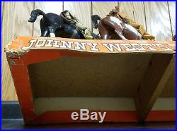 Vintage Marx Johnny West's Best Of The West Collection Store Display Cash Only