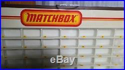 Vintage Matchbox Dealer Store Display Case Numbered 1 to 75 Holds 81 Model Cars