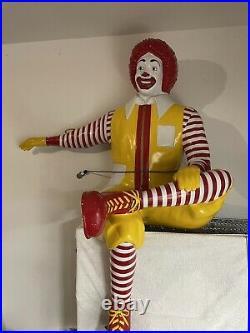 Vintage McDonalds Ronald McDonald Life Size Store Statue Display Bench Playland