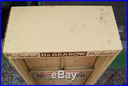 Vintage Metal DR. GRABOW Tobacco pipe Advertising STORE DISPLAY two sided