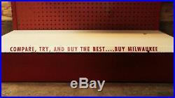 Vintage Milwaukee Tool Shelf Store Display