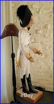 Vintage NAPOLEON miniature mannequin, automata, automaton, window store display
