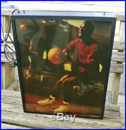 Vintage Nike Air Jordan Michael Jordan Lighted Store Shoes Display RARE HTF Sign