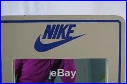 Vintage Nike Shoe Store Mirror Wooden Frame Heavy Sturdy