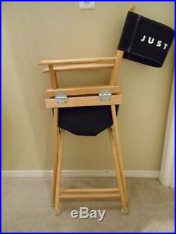 Vintage Nike Swoosh Just Do It Director's Chair Store Display wood/Black