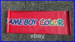 Vintage Nintendo Game Boy Color Store Display Promo vinyl banner Rare 51 x 16