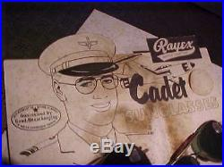 Vintage Old Store Display Cadet Aviator Sunglasses WWII Airplane on Standee Card